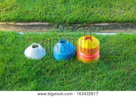 Training football or soccer facility or accessory.