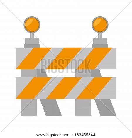 road barrier stop warning light vector illustration eps 10