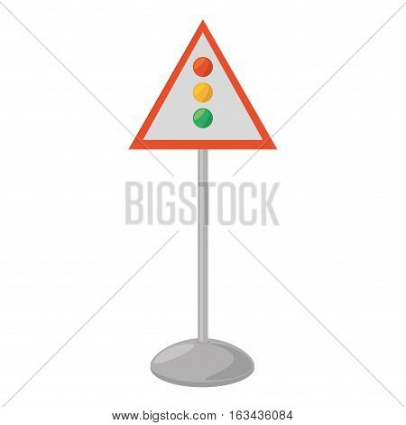 sign road light traffic white background vector illustration eps 10