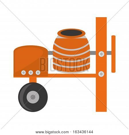 cement mixing machine wheel vector illustration eps 10
