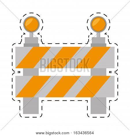road barrier stop warning light cut line vector illustration eps 10