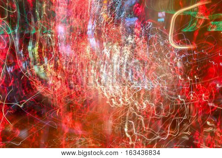 Abstract pattern of lights or streetlights of new year.
