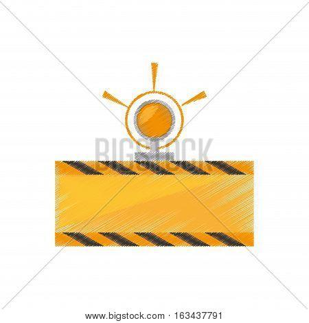 drawing under constuction board light vector illustration eps 10