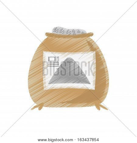 drawing sack concrete construction tool vector illustration eps 10