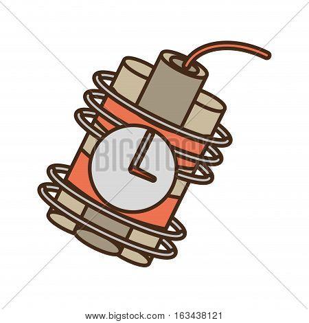 cartoon dynamite sticks mining clock vector illustration eps 10