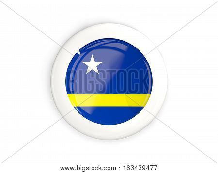 Flag Of Curacao, Glossy Round Button