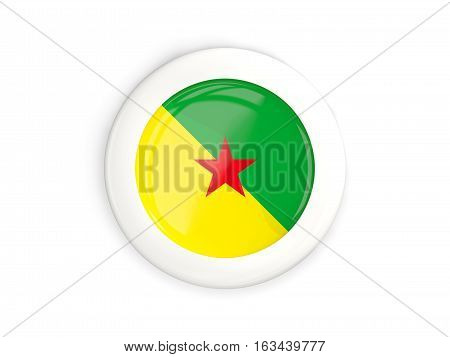 Flag Of French Guiana, Glossy Round Button