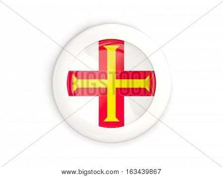Flag Of Guernsey, Glossy Round Button