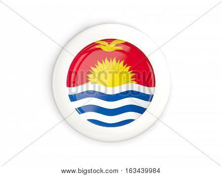 Flag Of Kiribati, Glossy Round Button