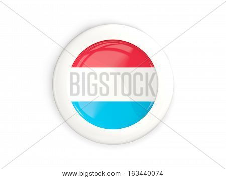 Flag Of Luxembourg, Glossy Round Button