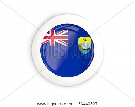 Flag Of Saint Helena, Glossy Round Button