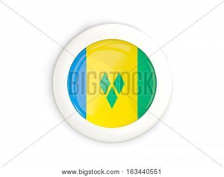 Flag Of Saint Vincent And The Grenadines, Glossy Round Button