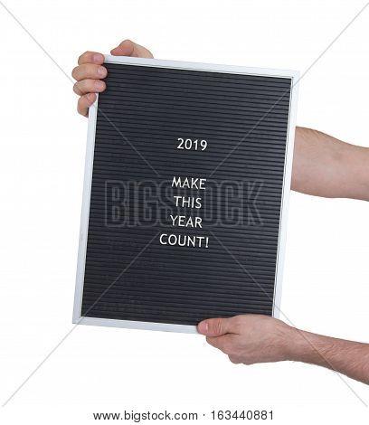 Very Old Menu Board - New Year - 2019