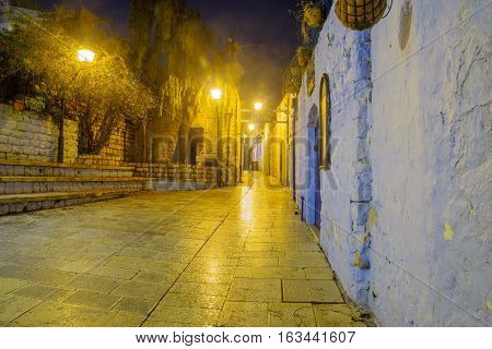 Alley In The Jewish Quarter, In Safed (tzfat)