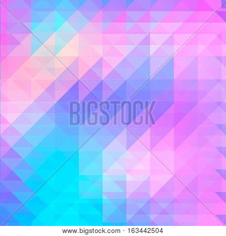 Background of geometric shapes. Retro pattern. Colorful mosaic banner. Geometric hipster retro background with place for your text. Retro triangle background