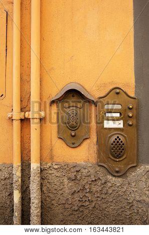 Antique Door Bell In Lucca, Italy