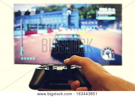 Joystick for video game consoles in the hands