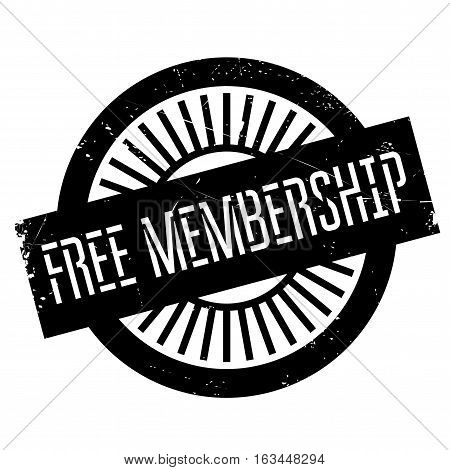 Free membership stamp. Grunge design with dust scratches. Effects can be easily removed for a clean, crisp look. Color is easily changed.