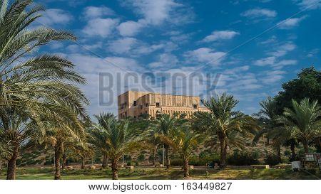 Former Saddam Hussein Palace ruins Babylon Iraq