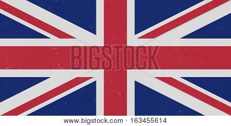 Vintage Grunge UK Union Jack Flag background illustration