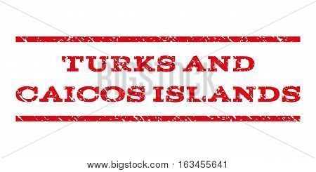 Turks and Caicos Islands watermark stamp. Text tag between horizontal parallel lines with grunge design style. Rubber seal stamp with scratched texture.
