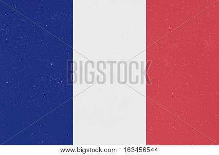 Vintage Grunge France Tricolor Flag background illustration