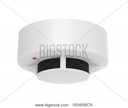 Smoke Detector isolated on white background. 3D render