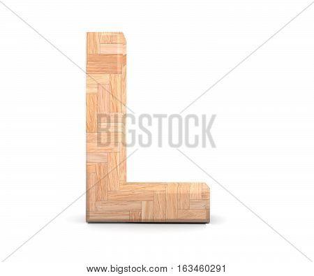 3D Decorative Wooden Alphabet, Capital Letter L