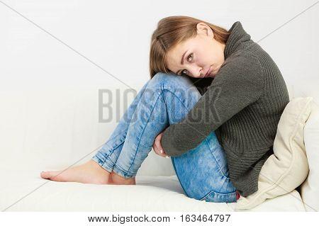 Unhappy And Sad Woman