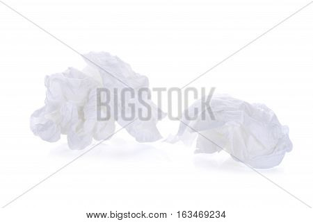 toilet paper balltissue paper ball isolated on white background