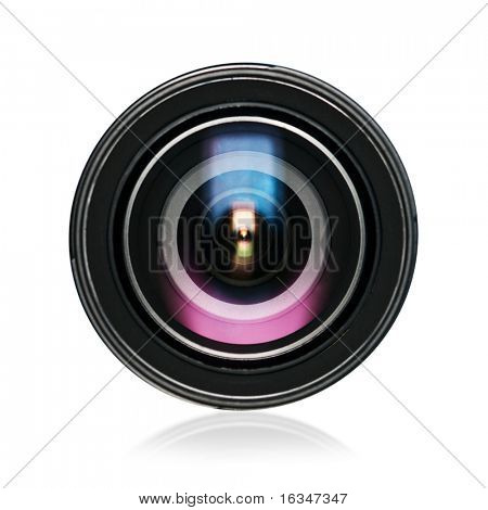 digital camera lens isolated on white