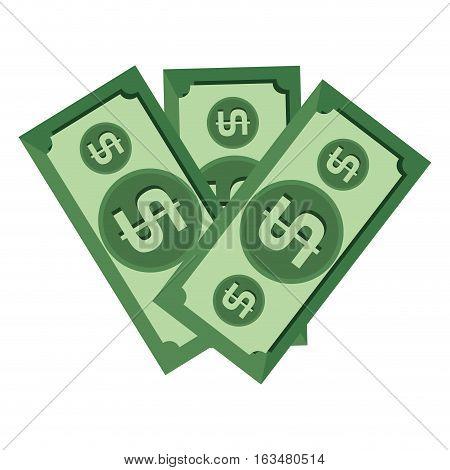 bills dollars money icon vector illustration design