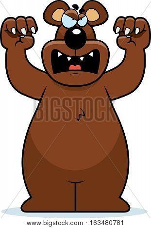 Cartoon Bear Attacking