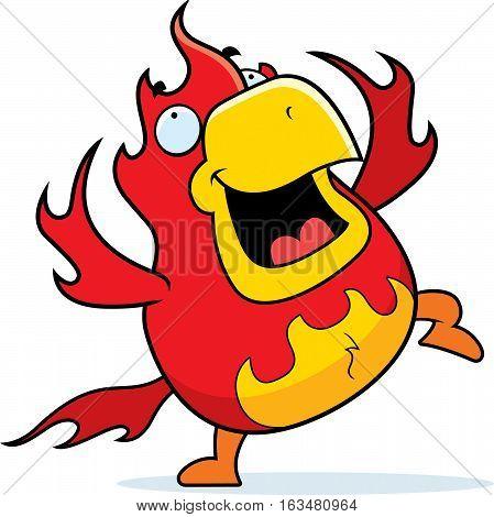 Cartoon Phoenix Dancing