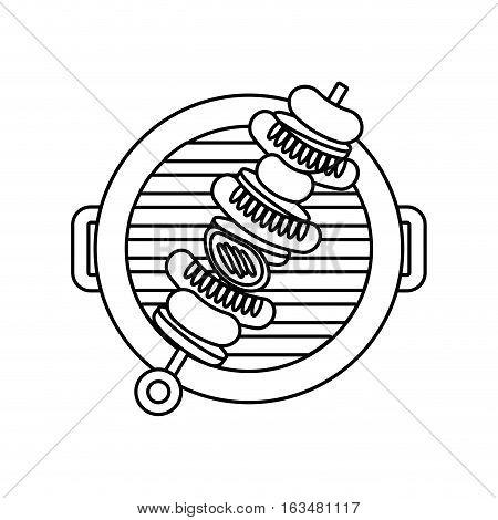 barbecue grilled sweker icon. delicious barbecue concept.  vector illustration