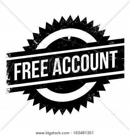 Free account stamp. Grunge design with dust scratches. Effects can be easily removed for a clean, crisp look. Color is easily changed.