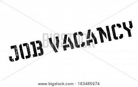 Job vacancy stamp. Grunge design with dust scratches. Effects can be easily removed for a clean, crisp look. Color is easily changed.