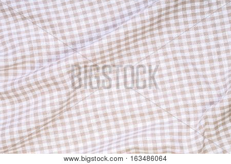 close up Crumpled tablecloth Texture Fabric Background