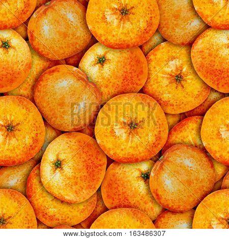 Seamless pattern watercolor orange tangerine, seamless pattern watercolor fruit mandarine
