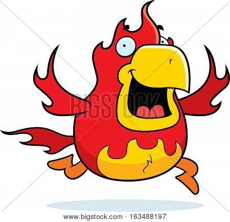 Cartoon Phoenix Running