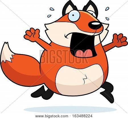 Cartoon Fox Panic
