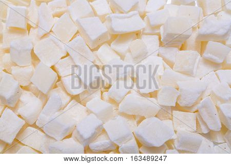 pieces of coconut background, backdrop or texture