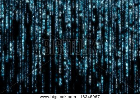 blue matrix background computer generated
