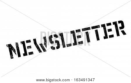 Newsletter stamp. Grunge design with dust scratches. Effects can be easily removed for a clean, crisp look. Color is easily changed.