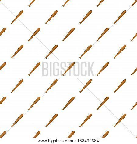 Baseball bat pattern. Cartoon illustration of baseball bat vector pattern for web