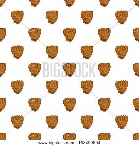 Baseball glove pattern. Cartoon illustration of baseball glove vector pattern for web