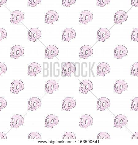 Human skull pattern. Cartoon illustration of human skull vector pattern for web