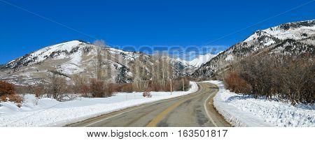 Winter over La Plata Canyon in Mancos, CO