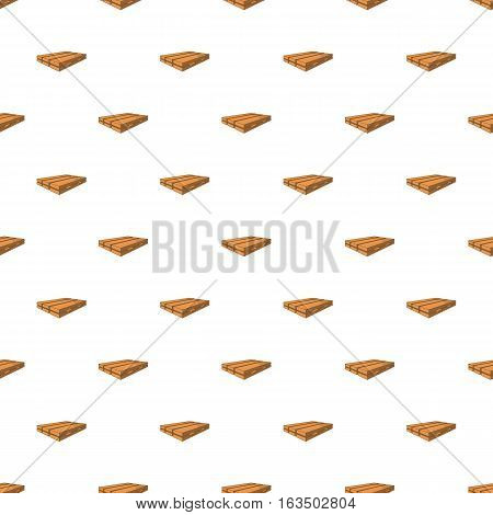 Pile of wood planks pattern. Cartoon illustration of pile of wood planks vector pattern for web