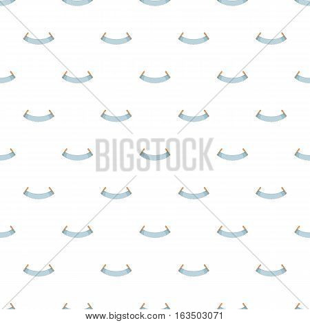Two handled saw pattern. Cartoon illustration of two handled saw vector pattern for web